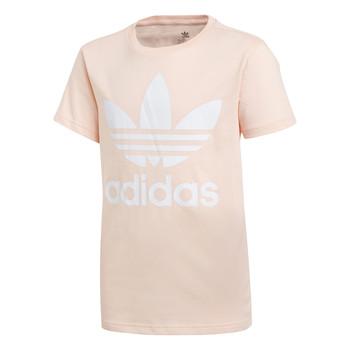 Kleidung Mädchen T-Shirts adidas Originals TREFOIL TEE Rose
