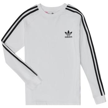 Kleidung Jungen Langarmshirts adidas Originals 3STRIPES LS Weiss