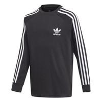 Kleidung Jungen Langarmshirts adidas Originals 3STRIPES LS Schwarz