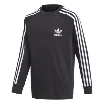 Kleidung Kinder Langarmshirts adidas Originals 3STRIPES LS Schwarz