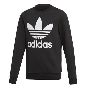 Kleidung Kinder Sweatshirts adidas Originals TREFOIL CREW Schwarz