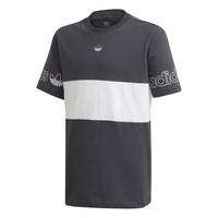 Kleidung Jungen T-Shirts adidas Originals PANEL TEE Grau / Weiss