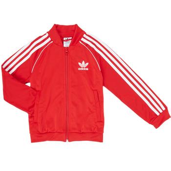 Kleidung Jungen Trainingsjacken adidas Originals SST TRACKTOP Rot