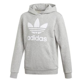 Kleidung Jungen Sweatshirts adidas Originals TREFOIL HOODIE Grau