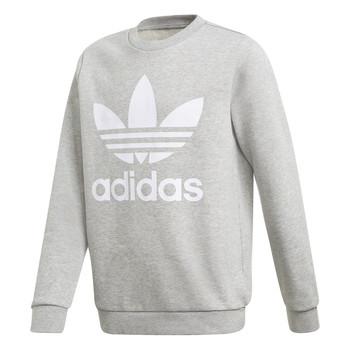 Kleidung Jungen Sweatshirts adidas Originals TREFOIL CREW Grau