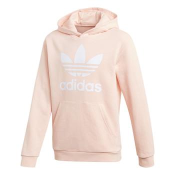 Kleidung Mädchen Sweatshirts adidas Originals TREFOIL HOODIE Rose