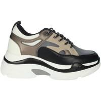 Schuhe Damen Sneaker High Rocco Barocco RBSC4EX01 Schwarz/Beige