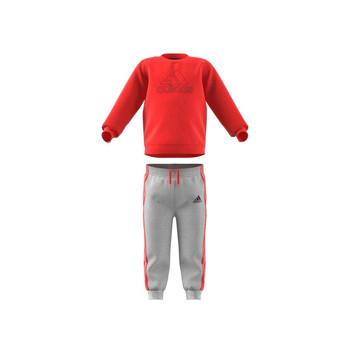 Kleidung Kinder Kleider & Outfits adidas Performance MH LOG JOG FL Rot / Grau