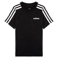 Kleidung Jungen T-Shirts adidas Performance YB E 3S TEE Schwarz