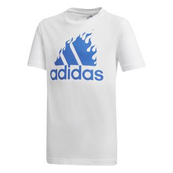 Kleidung Jungen T-Shirts adidas Performance JB BOS GRAPH Weiss