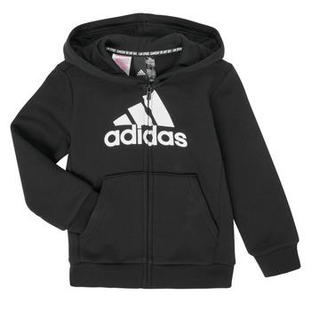 Kleidung Jungen Sweatshirts adidas Performance B MH BOS FZ FL Schwarz