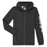 Kleidung Mädchen Sweatshirts adidas Performance YG E LIN FZ HD Schwarz