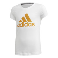 Kleidung Mädchen T-Shirts adidas Performance YG MH BOS TEE Weiss
