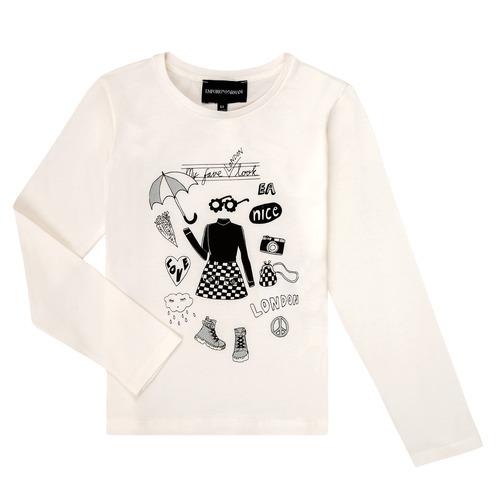 Kleidung Mädchen Langarmshirts Emporio Armani 6H3T01-3J2IZ-0101 Weiss