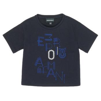 Kleidung Mädchen T-Shirts Emporio Armani 6H3T7R-2J4CZ-0926 Marine