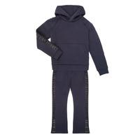 Kleidung Mädchen Jogginganzüge Emporio Armani 6H3V01-1JDSZ-0920 Marine