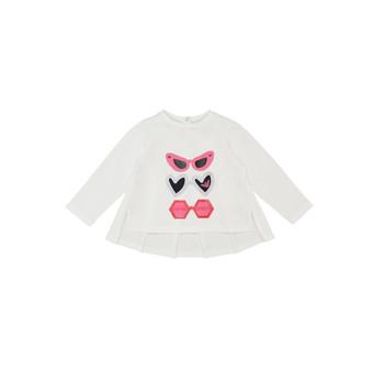Kleidung Mädchen Langarmshirts Emporio Armani 6HEM01-3J2IZ-0101 Weiss