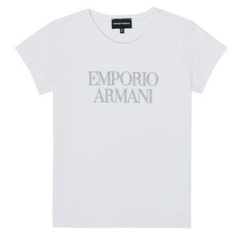 Kleidung Mädchen T-Shirts Emporio Armani 8N3T03-3J08Z-0100 Weiss
