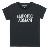 Kleidung Mädchen T-Shirts Emporio Armani 8N3T03-3J08Z-0999 Schwarz