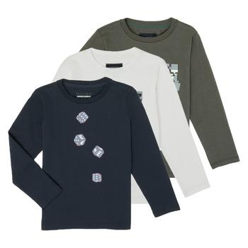 Kleidung Jungen Langarmshirts Emporio Armani 6H4D01-4J09Z-0564 Multicolor