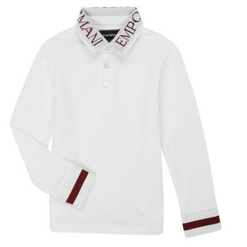 Kleidung Jungen Langärmelige Polohemden Emporio Armani 6H4FJ4-1J0SZ-0101 Weiss