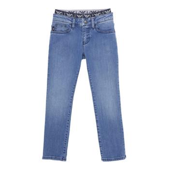 Kleidung Jungen Slim Fit Jeans Emporio Armani 6H4J17-4D29Z-0942 Blau