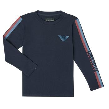 Kleidung Jungen Langarmshirts Emporio Armani 6H4TJD-1J00Z-0920 Marine