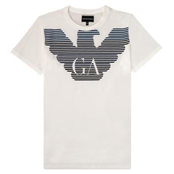Kleidung Jungen T-Shirts Emporio Armani 6H4TQ7-1J00Z-0101 Weiss