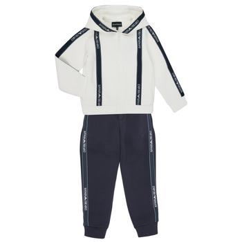 Kleidung Jungen Jogginganzüge Emporio Armani 6H4V02-1JDSZ-0101 Marine / Weiss