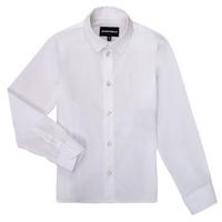 Kleidung Jungen Langärmelige Hemden Emporio Armani 8N4CJ0-1N06Z-0100 Weiss