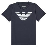 Kleidung Jungen T-Shirts Emporio Armani 8N4T99-1JNQZ-0939 Marine