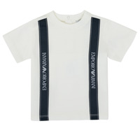 Kleidung Jungen T-Shirts Emporio Armani 6HHTG4-1JTUZ-0101 Weiss