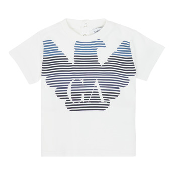 Kleidung Jungen T-Shirts Emporio Armani 6HHTQ7-1J00Z-0101 Weiss