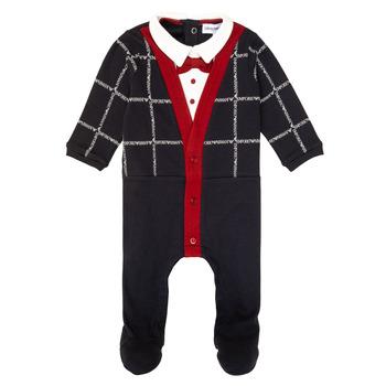 Kleidung Jungen Pyjamas/ Nachthemden Emporio Armani 6HHD12-4J3WZ-F912 Marine