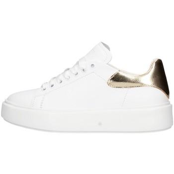 Schuhe Damen Sneaker Low Frau 4173 Turnschuhe  Weiß / Gold Weiß / Gold