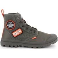 Schuhe Herren Sneaker High Palladium Manufacture Pampa HI Change U Olivgrün