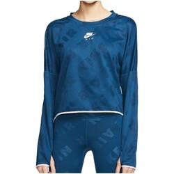 Kleidung Damen Langärmelige Polohemden Nike Sport Air Running Midlayer Crop LS Women CJ1882-432 türkis