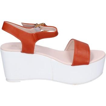 Schuhe Damen Sandalen / Sandaletten Solo Soprani sandalen kunstleder orange