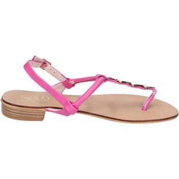 Schuhe Damen Sandalen / Sandaletten Solo Soprani sandalen kunstleder pink
