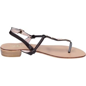 Schuhe Damen Sandalen / Sandaletten Solo Soprani sandalen kunstleder braun