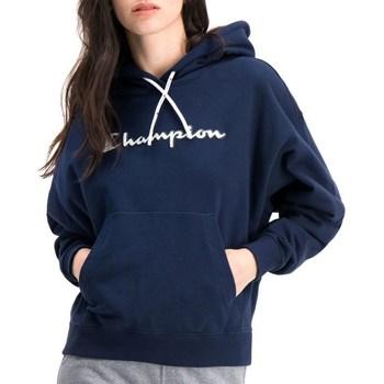 Kleidung Damen Sweatshirts Champion Hooded Dunkelblau