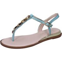 Schuhe Damen Sandalen / Sandaletten Solo Soprani sandalen kunstleder hellblau