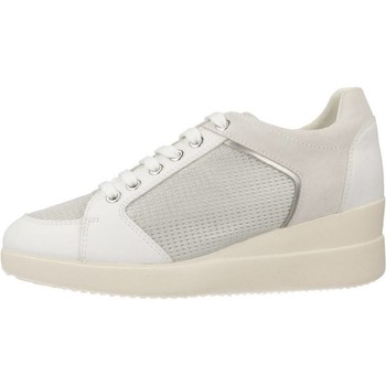 Geox D STARDUST B Weiß - Schuhe Sneaker Damen 5196