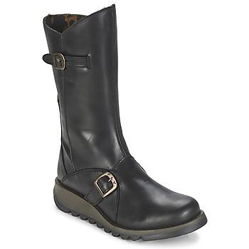 Schuhe Damen Klassische Stiefel Fly London MES2 Schwarz