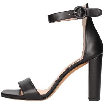 Schuhe Damen Sandalen / Sandaletten Albano 4055 Sandelholz Frau schwarz schwarz