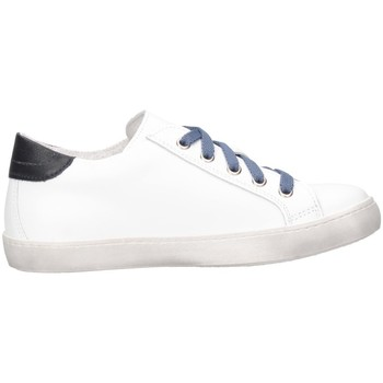 Schuhe Kinder Sneaker Low Dianetti Made In Italy I9841B Sneaker Kind Weiß / Blau Weiß / Blau