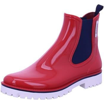 Schuhe Damen Gummistiefel Bockstiegel Stiefeletten Oxford Regenstiefel OXFORD rot