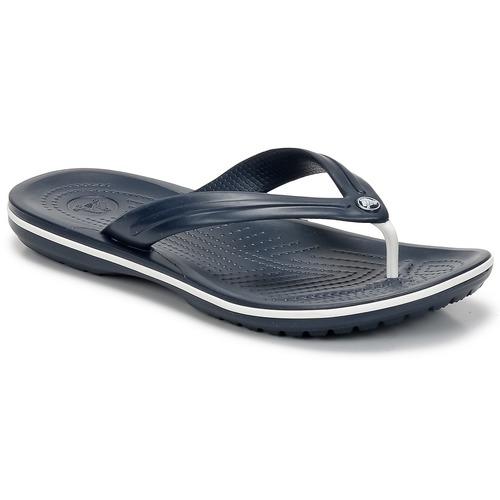 Schuhe Zehensandalen Crocs CROCBAND FLIP Marine