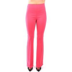 Kleidung Damen Fließende Hosen/ Haremshosen Hanita H.P911.2665 Pantalone Damen Grapefruit / Pink Grapefruit / Pink