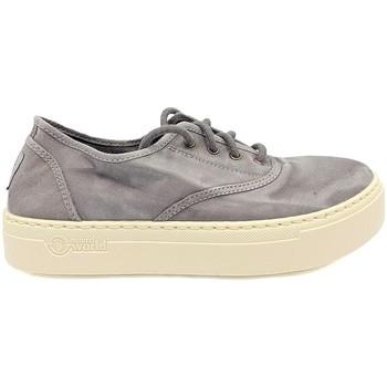 Schuhe Damen Sneaker Low Natural World Basket Platform Grise 623-6112E Grau